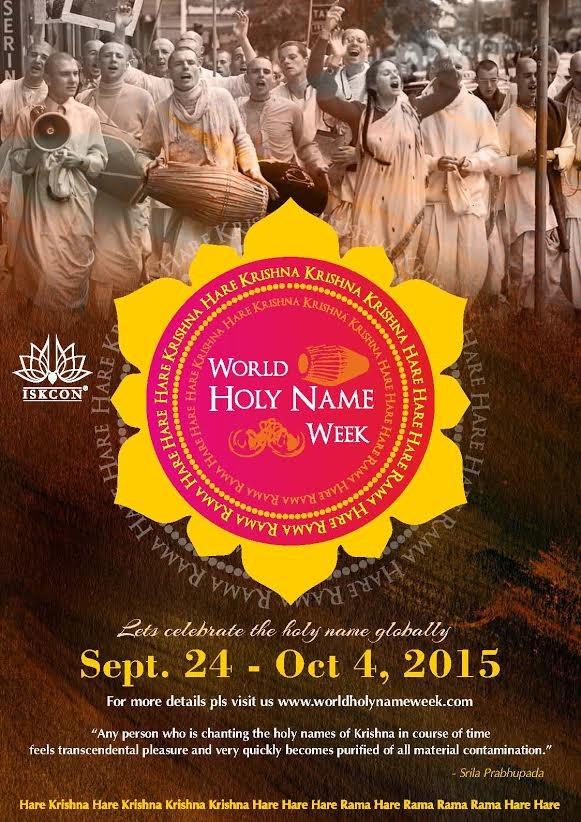 World Holy Name Week 2015