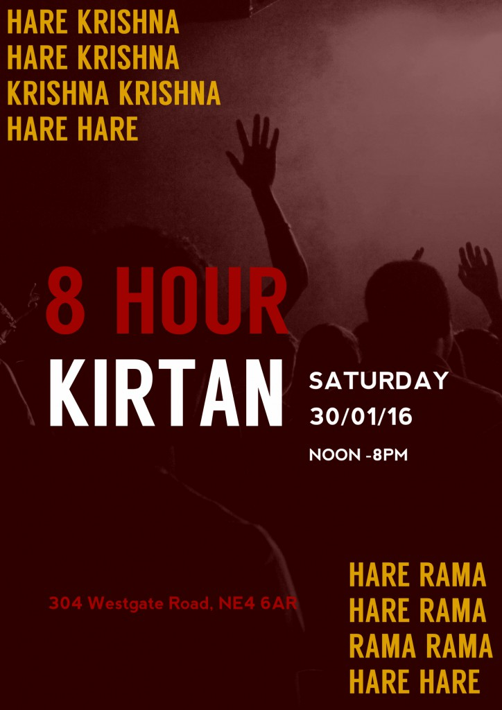 8 Hour Kirtan Jan 16